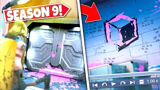 *NEW* HIDDEN SEASON 9 TRAILER BUNKER *LOCATED* REVEALING SECRET CUBE WALL PAINTING! SEASON 9 UPDATE!