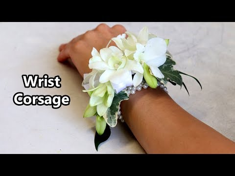 How To Make A Wrist Corsage Youtube