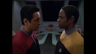Commander Chakotay Ask Lt. Commander Tuvok for Advice