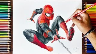 How to draw Spider-man: Far From home   Timelapse