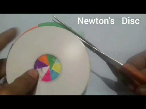 ✔How to make Newton's disc wheel science model | 10th class working science model | science project thumbnail