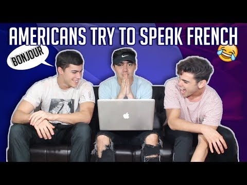 AMERICANS TRY TO SPEAK FRENCH CHALLENGE (Sous-Titres Français)