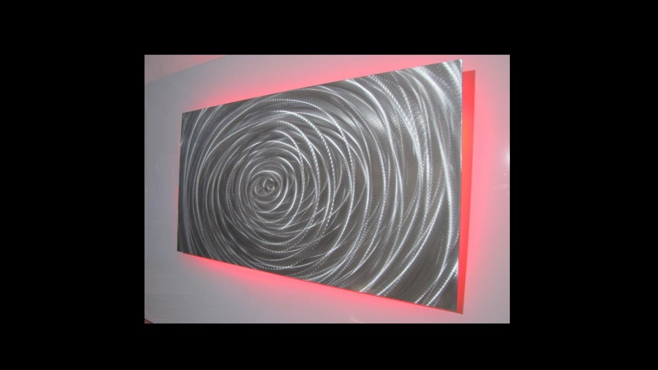 LED Lighting Metal Wall Art Designs