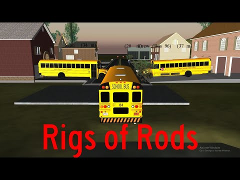 Rigs of Rods - Morning Run then Moving Some buses (New Airbag Sound)  