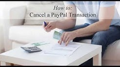 Cancelling a PayPal Transaction