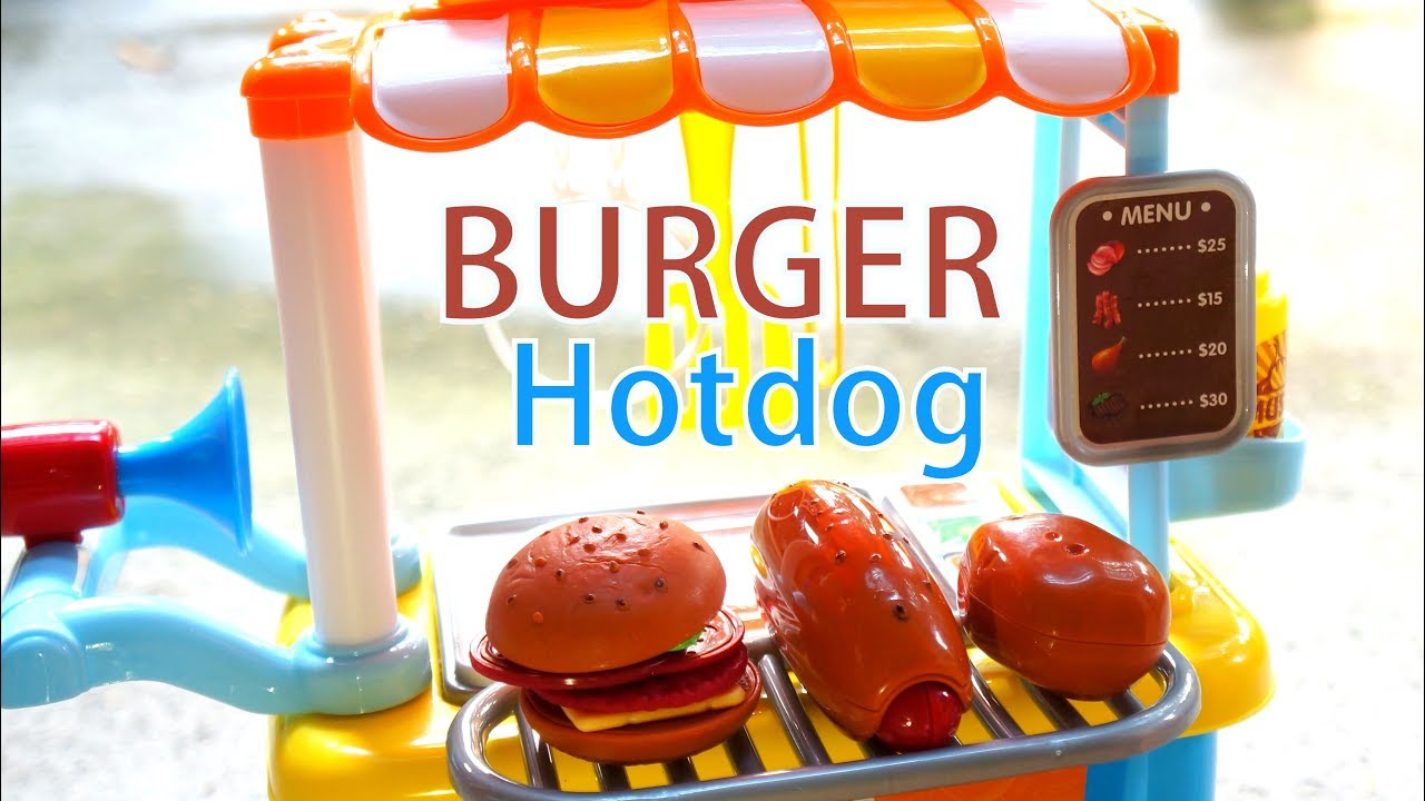Mainan Gerobak Dorong Burger Dan Hotdog Suid Afrika Vlip Lv