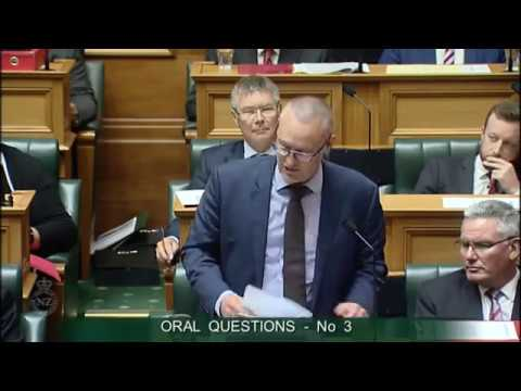 Question 3 - Hon Michael Woodhouse to the Minister of Finance