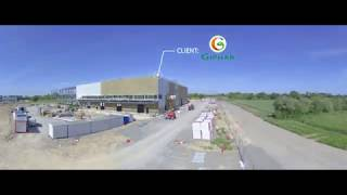 ESSOR - Construction Usine Giphar - Timelapse Construction - ERIGE