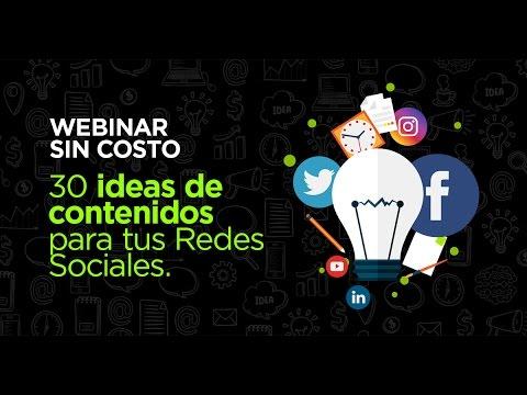 30 ideas de contenidos para tus Redes Sociales con Pablo Di Meglio y Adrián Burgos