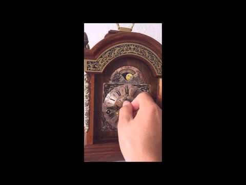 Rare Large Warmink Westminster Quarter Chime Black Band Bracket/Mantel Clock