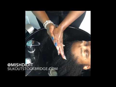 Natural Hair Silk Press At Hair Salon (Located Near Atlanta, GA)