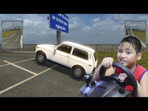 Bé Dương thi bằng lái xe ô tô B2 - Bài thi sa hình ETS2