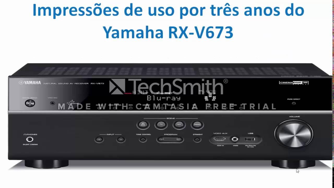 comparativo receivers yamaha rx v673 vs yamaha rx v681 youtube. Black Bedroom Furniture Sets. Home Design Ideas