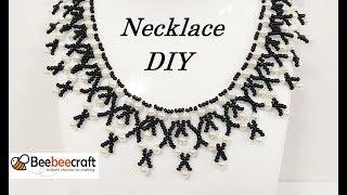 Колье из Бисера и Бусин Мастер Класс/ Beebeecraft/ Beaded necklace master class!