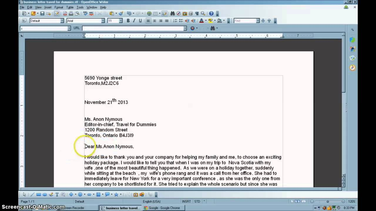 Learn To Write A Business Letter Full Block Under 6 Minutes