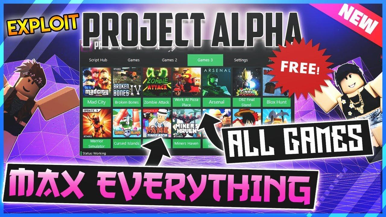 New Roblox Exploit Project Alpha Admin All Games Max