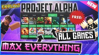 *NEW* ROBLOX EXPLOIT - PROJECT ALPHA - ADMIN ALL GAMES✅MAX STATS, MONEY *UNPATCHABLE* AND MORE