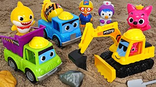 Let's help Duplo's friends with Pinkfong Heavy Equipment! | PinkyPopTOY