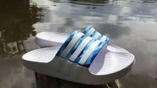 Custom Adidas slides   custom sandals