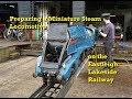 Preparing a Miniature Steam Locomotive on the Eastleigh Lakeside Railway