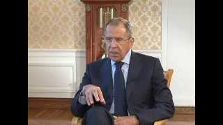 """Интервью С.Лаврова программе """"Воскресное время"""" Первого канала"""