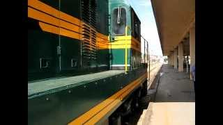Kennedy 661-154 locomotives moving on the road testing of diesel locomotives