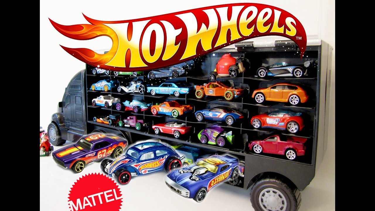 Hot Wheels Toy Car Holder Case : Amazon wolvol transport car carrier truck toy for boys and