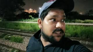 ENCOUNTER WITH GHOST Recorded On Camera (Real White Spirit) !  Haunted Railway Station .