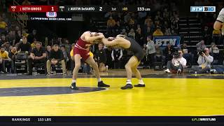 133 LBS: #1 Seth Gross (Wisconsin) vs. #2 Austin DeSanto (Iowa)  | 2019 B1G Wrestling