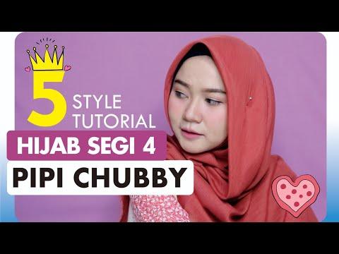 Tutorial Hijab Simple Segi Empat Untuk Wajah Bulat Bisabo Channel