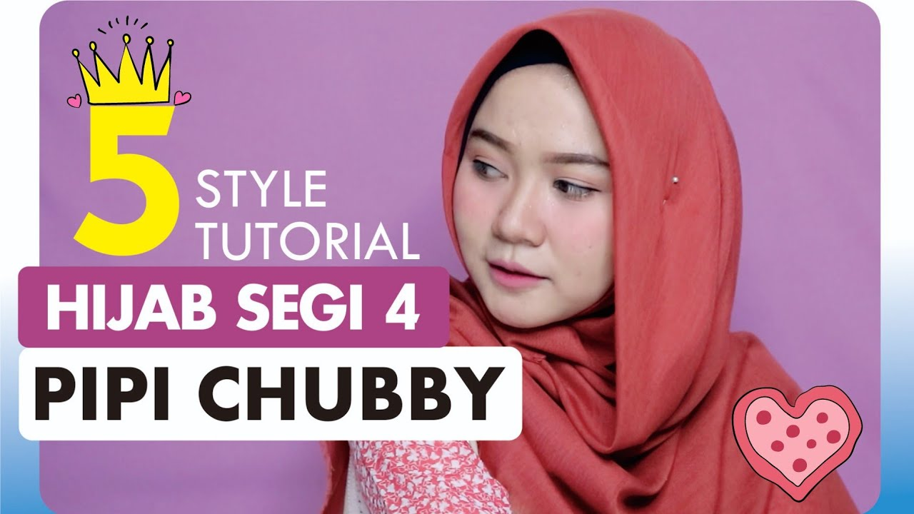 5 Tutorial Hijab Segi Empat Rawis Untuk Wajah Bulat Simpel Banget Youtube