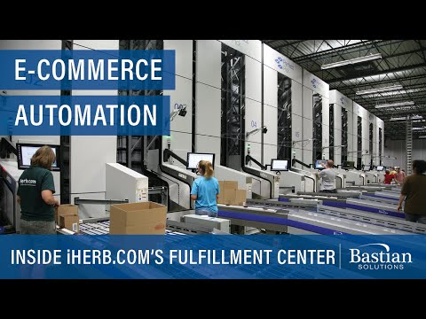Inside iHerb.com's E-Fulfillment Center featuring Goods-to-Person Technology, Perfect Pick