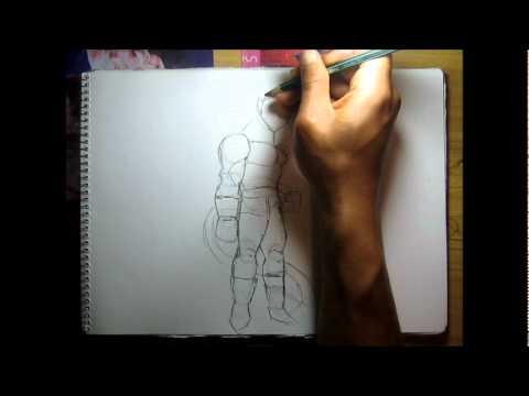 Como dibujar a VEGETA SS4 a lapiz en vivo