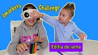3 Markere CHALLENGE   Editie De IARNA   Coloram Braduti,Mos Craciuni,globuri