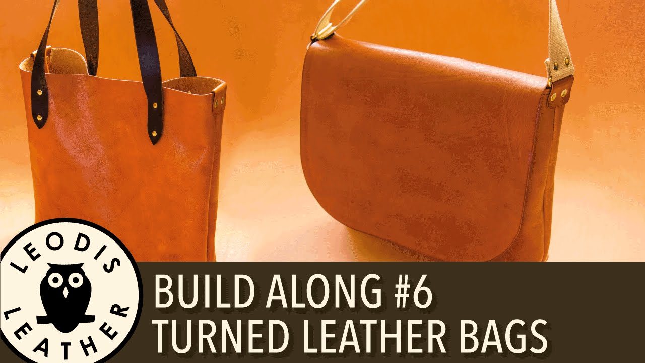Leather Build Along  6  Turned Leather Messenger and Tote Bags - YouTube 0d537a06dc483