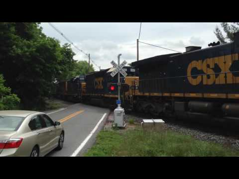 CSX train moving through Chewsville, Maryland across the old Georgetown Road