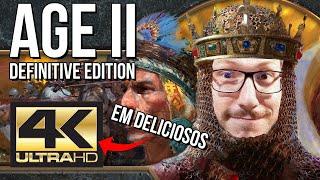 AGE OF EMPIRES 2 Definitive Edition FICOU MUITO MELHOR e EM GLORIOSOS 4K!