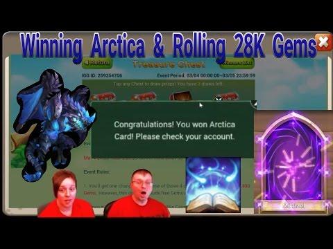 Winning ARCTICA In Events Plus Rolling 28K Gems Castle Clash