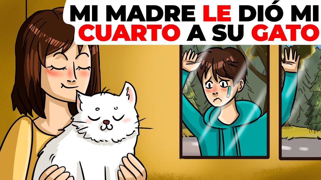 Mi madre le dió mi cuarto a su gato | Historia animada