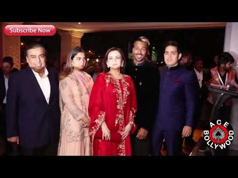 India's Richest Person Mukesh Ambani With Family  Attends Hardik Pandya's Brother Reception Ceremony