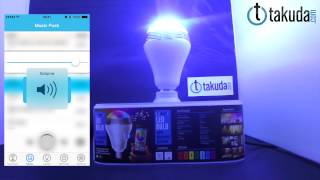 Takuda 創意無線藍芽LED燈泡音響喇叭 智慧燈泡 智能燈泡 手機APP控制燈泡