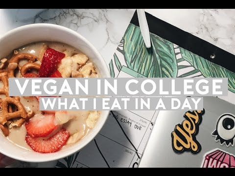 Vegan What I Eat in a Day at College