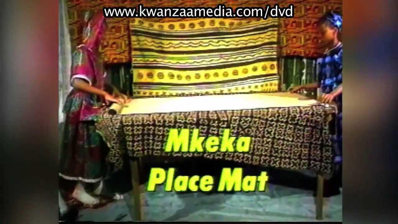 Kwanzaa Mkeka Placemat Youtube