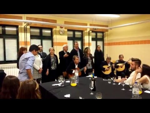 Coimbra Fado song perfomed by teachers and pupils of Erasmus+ project
