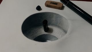 Drawing Realistic 3D Hole - Optical Illusion