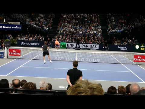 Richard Gasquet vs Jack Sock - Court level view