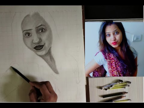 How to Draw a Pretty Face with Pencil //Step by Step Tutorial