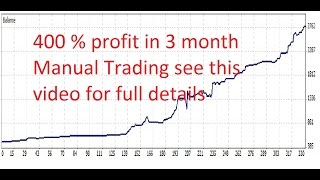 Forex Trading  = 400 % profit in 3 months no robot manual trading