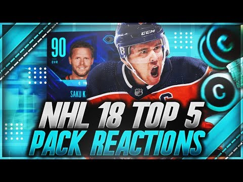 NHL 18 HUT: 'TOP 5 PACK REACTIONS OF THE MONTH' (INSANE PULLS)
