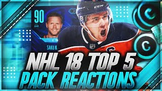 """NHL 18 HUT: """"TOP 5 PACK REACTIONS OF THE MONTH"""" (INSANE PULLS)"""